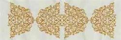 Linen Border Swirl embroidery design