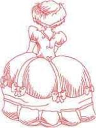 Big Dress Girl embroidery design