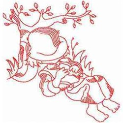 Boy Napping embroidery design