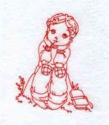 Redwork Boy embroidery design