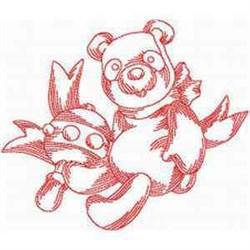 RW Baby Teddy embroidery design