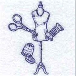 RW Dress Form embroidery design