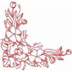 RW Flower Corner embroidery design