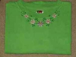 Neckline Flowers embroidery design