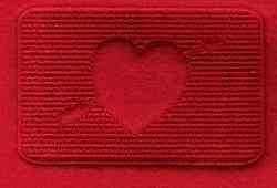Rectangle Heart embroidery design