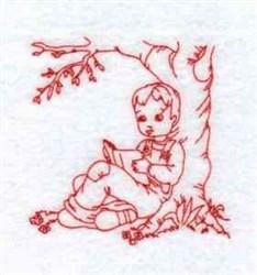 Redwork Daniel embroidery design