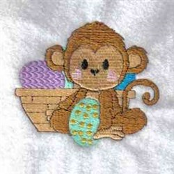 Easter Monkey embroidery design