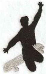 Extreme Skateboarder embroidery design