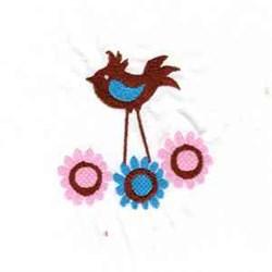 Doodle Tweets Bird embroidery design