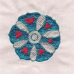 Mylar Flower embroidery design