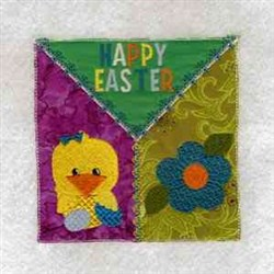 Happy Easter Square embroidery design