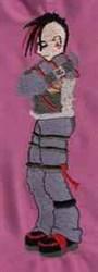 Goth Boy embroidery design