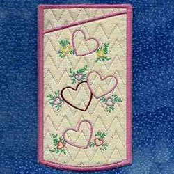 Eyeglass Hearts embroidery design