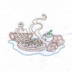 Redwork Meal embroidery design