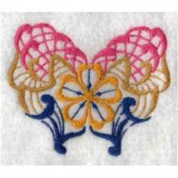 Ornamental Butterfly embroidery design