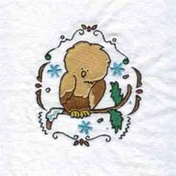 Christmas Owl embroidery design