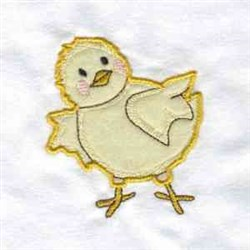 Applique Chick embroidery design