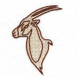Antelope Head embroidery design