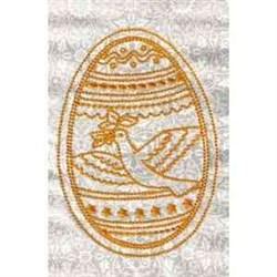 Redwork Dove Egg embroidery design