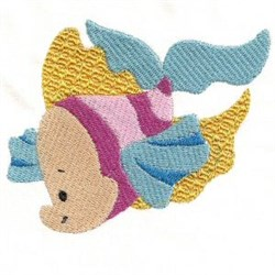 Jacobean Fish embroidery design
