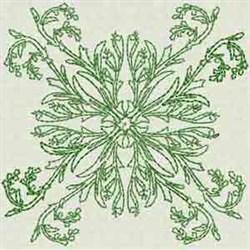 Redwork Flower Block embroidery design