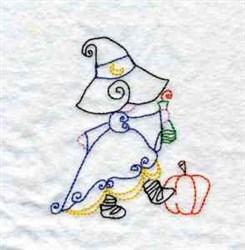 Redwork Halloween embroidery design
