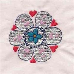Mylar Flower Applique embroidery design