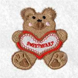 Sweatheart Bear embroidery design