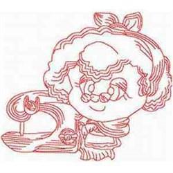 Redwork Grandma embroidery design