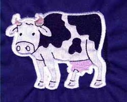 Applique Cow embroidery design