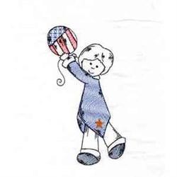 Patriotic Boy embroidery design
