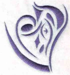 Aabstract Heart embroidery design