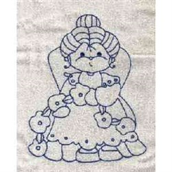 Redwork Grandmother embroidery design