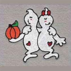 Pumpkin Ghosts embroidery design