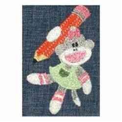 Pencil Monkey embroidery design