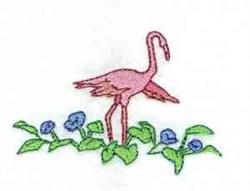 Flamingo Leaves embroidery design