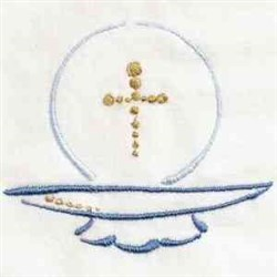 Communion Wafer embroidery design