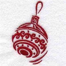 Holiday Bauble embroidery design