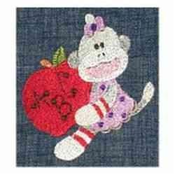 School Monkey embroidery design