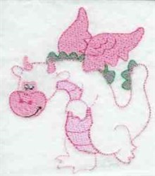 Dragon embroidery design