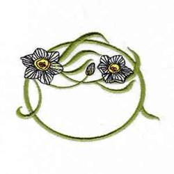 Floral Frame embroidery design