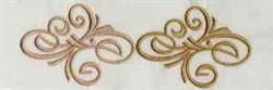 Swirl Redwork embroidery design