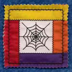 Halloween Block embroidery design