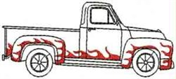 Flame Pickup embroidery design