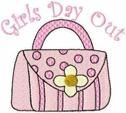 Girls Day Out embroidery design