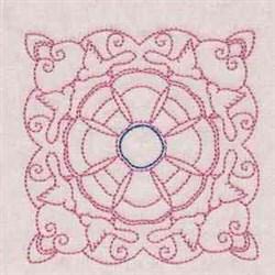 Dove Block embroidery design