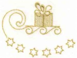 Star Sled Redwork embroidery design