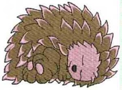Hedgehog Asleep embroidery design