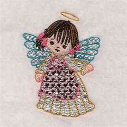 Applique Mylar Angel embroidery design