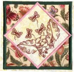 Redwork Quilt Butterfly embroidery design